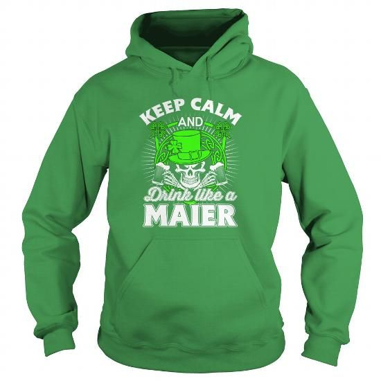 MAIER - Patrick's Day 2016 - #monogrammed gift #gift certificate. CLICK HERE => https://www.sunfrog.com/Names/MAIER--Patricks-Day-2016-Green-Hoodie.html?68278