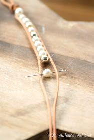 Bracelet cuir perles