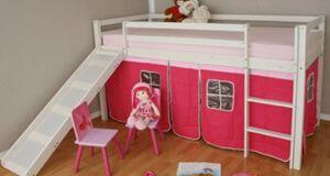 Homestyle4u Kinderhochbett mit Rutsche - Podestbett › Podestbett Hochbett - Testsieger http://www.hochbett-kinder.com/podestbett-mit-rutsche-homestyle4u-spielbett-mit-lattenrost-vorhang/