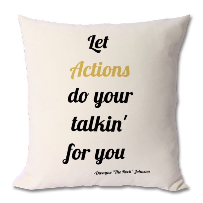 Dwayne johnson quotes, dwayne johnson gift, the rock fan gift, motivational gift, motivational cushion, motivational quote pillow