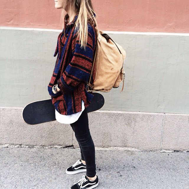 Mexican parka lady vans skinny skateboard cordinate
