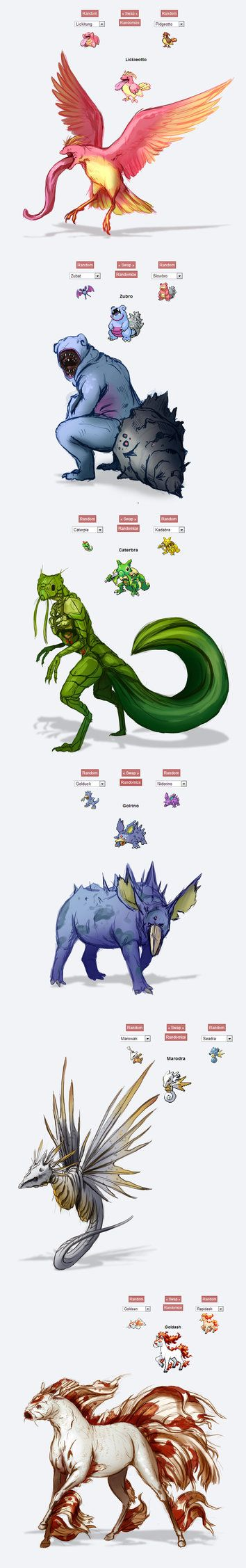 Pokemon fusions by silver5