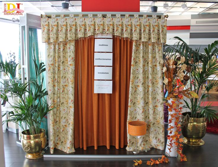 Cortinas con volante de tabla hueca en arco y anillas de tela cortinas pinterest tela - Anillas de cortinas ...