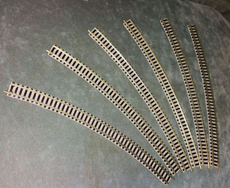 Fleischmann 9135, 6 x Gebogenes Gleis, R4, 30°, Spur N, gut erhalten