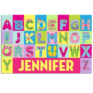 Psychobaby Monster Alphabet Placemat Girls $10