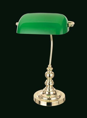 828 kr. Bankers Table Lamp With Green Glass Shade Polished Brass Winfield Interiors http://www.amazon.co.uk/dp/B00EPFMSYC/ref=cm_sw_r_pi_dp_VvC3wb0ZMHKJQ