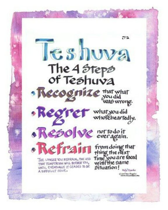 Teshuvah.....Hearing the sound of the shofar (trumpet) calls us to 'return & repent'; to examine ourselves & get right with G-d & others.