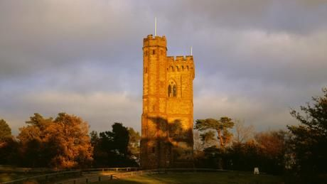 A view of the West Front of Leith Hill Tower. England