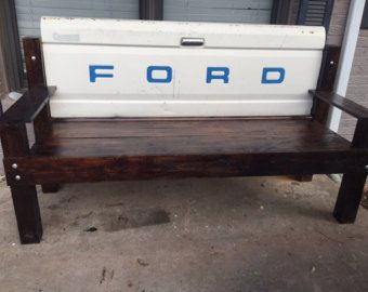 Vintage Ford Truck Tailgate bench First on by UncleBrothersGarage