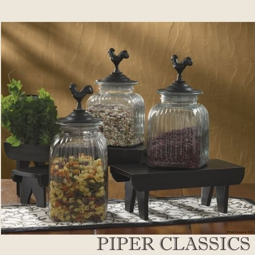 Large Decorative Glass Jars 190 Best *my Chicken Kitchen* Images On Pinterest  Roosters