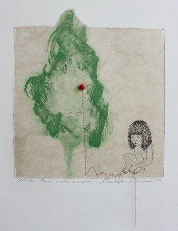 Laura Pohjonen 2012 Tänään istutan omenapuun Grafiikka, etsaus 28 x 25 cm 320.00 € tai 20.00 € (16 kk)