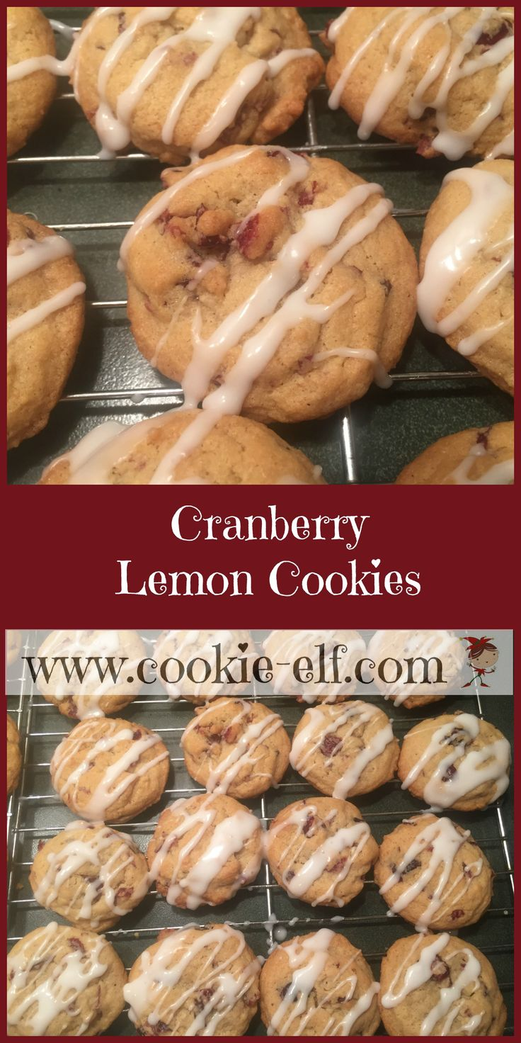 Cranberry Lemon Cookies with The Cookie Elf