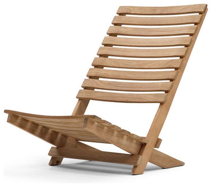 Dania Folding Beach Chair By Skagerak - Contemporary - Outdoor Folding ...