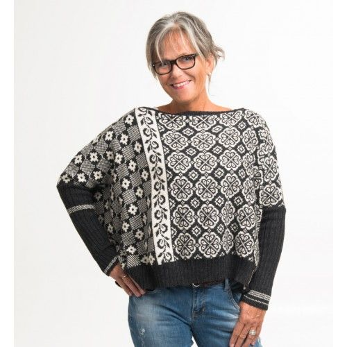 Lekker genser strikket i babyalpakka