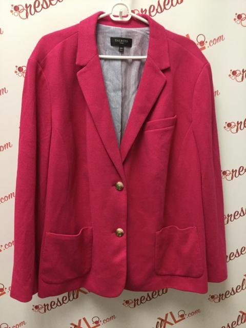 984c51f56fe6b9 Talbots Size 24W Pink Knit Blazer Jacket