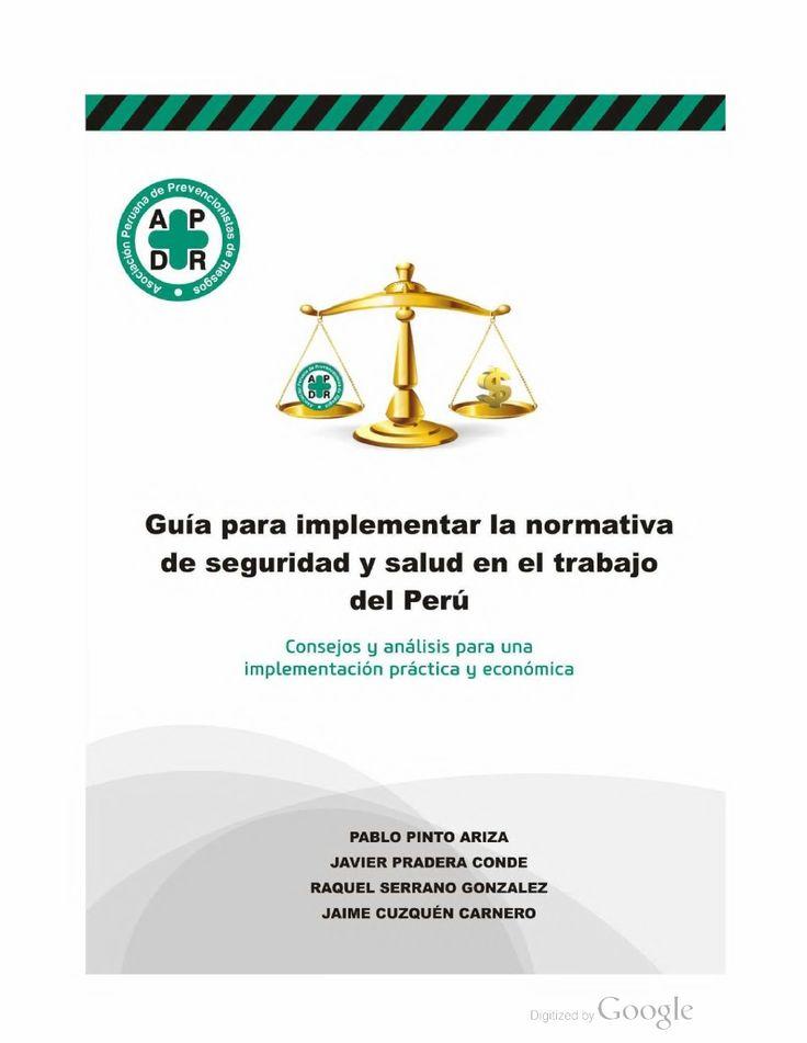 Guía para implementar la normativa de Seguridad y Salud en el Trabajo del Perú