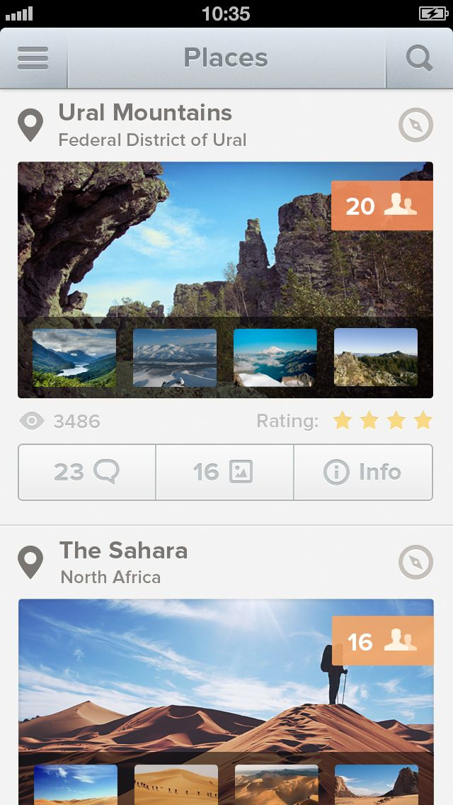 Discovering iOS App by Roman Bulah, via #dribble #ui