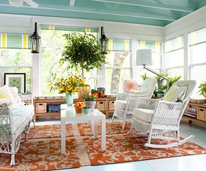 what a happy sunroom