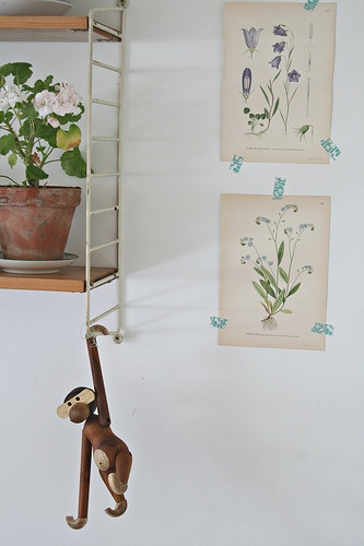 On my kitchen wall #string #kay bojesen monkey