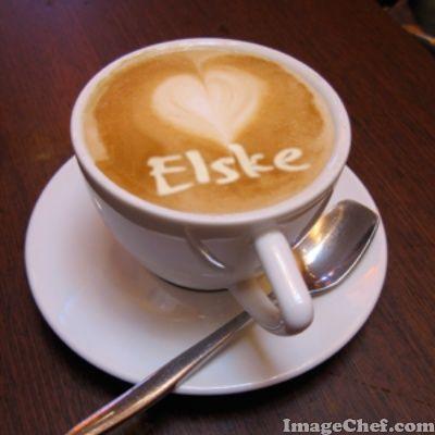 Een kopje koffie met mijn naam.