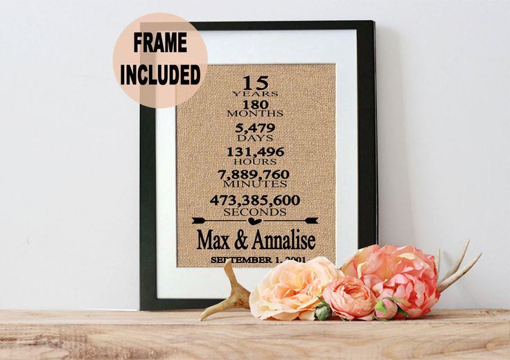 15th Wedding Anniversary Gift Ideas For Parents : ... 15th Anniversary Gift - Wedding Anniversary Gift - Framed Gift by