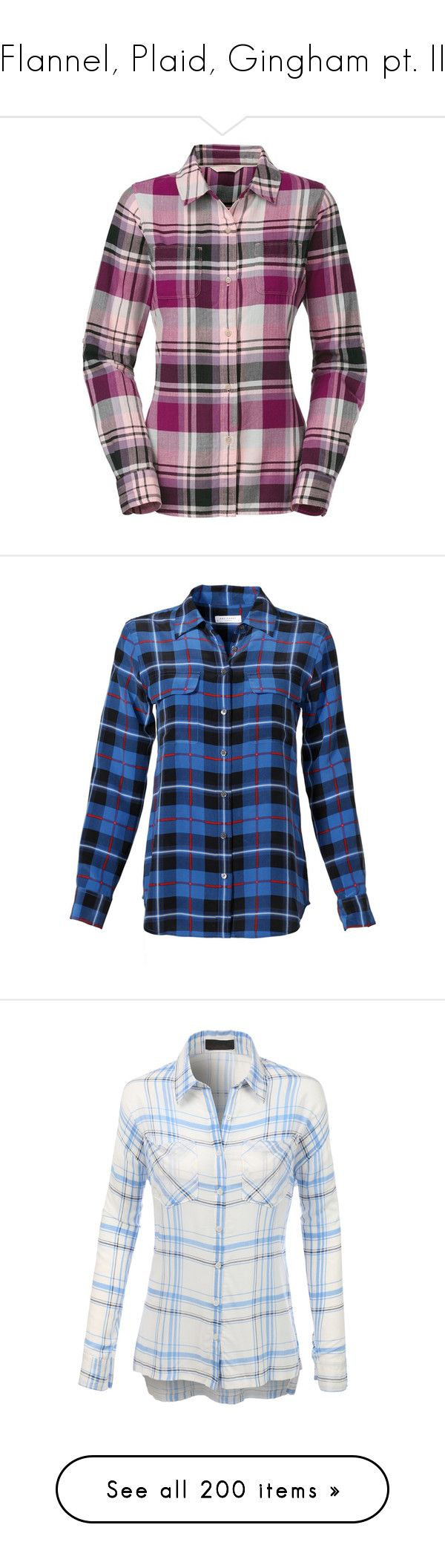 """Flannel, Plaid, Gingham pt. II"" by canadian-necromancer ❤ liked on Polyvore featuring tops, shirts, flannel, plaid, blusas, ballet pink, plaid long sleeve shirt, purple long sleeve top, purple shirt and pink flannel shirt"
