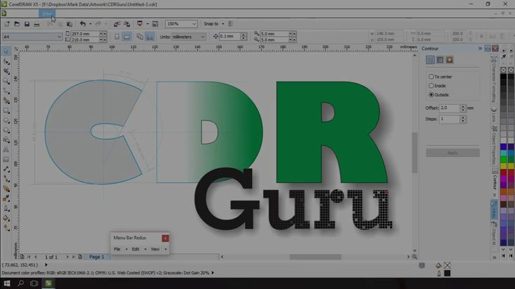Corel Draw X5 Hidden Menu Bar on Windows 10