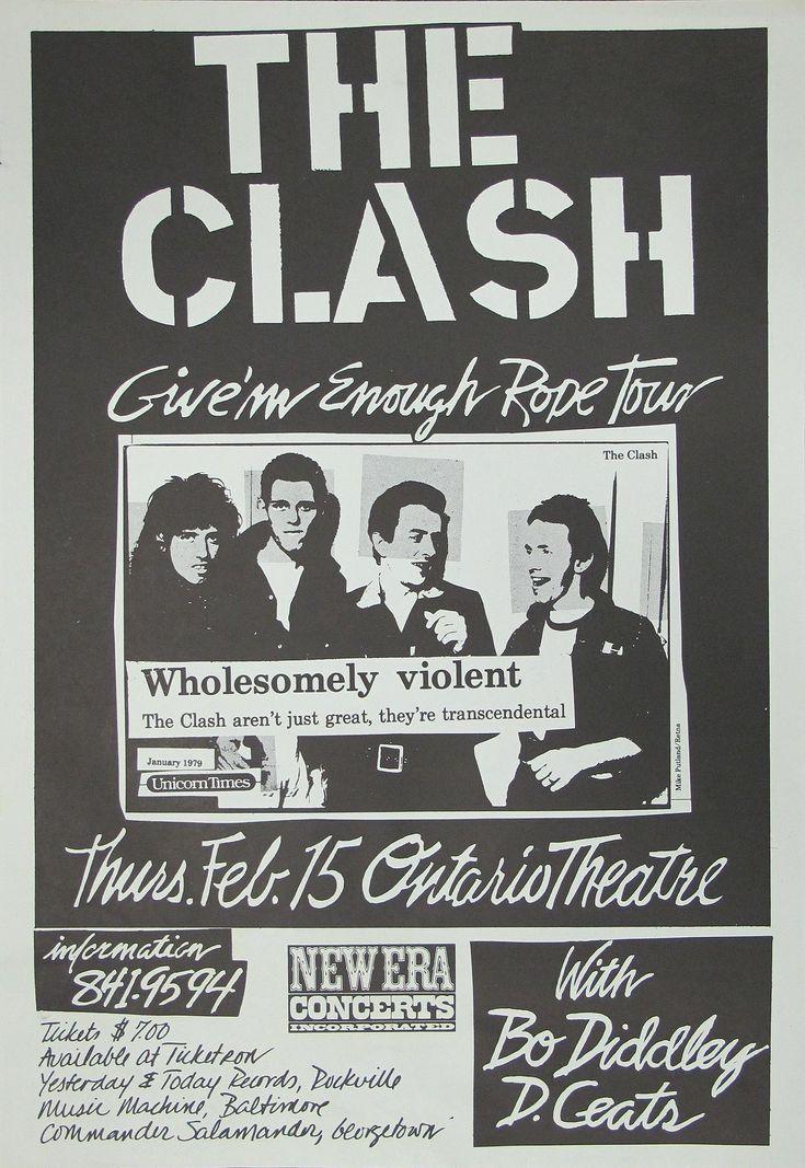 The Clash Original Concert Poster 6R5Q1RF9                                                                                                                                                                                 More