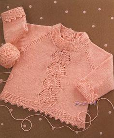Beautiful Baby Sweater...Free Patten!!i Tem outros modelos para bébé lindos!