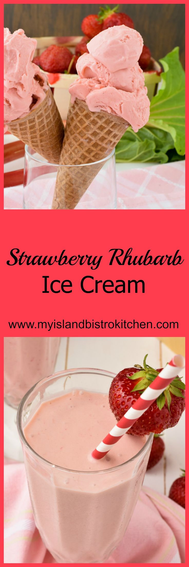Delectable old-fashioned homemade ice cream combines two of summer's best flavors - strawberry and rhubarb.