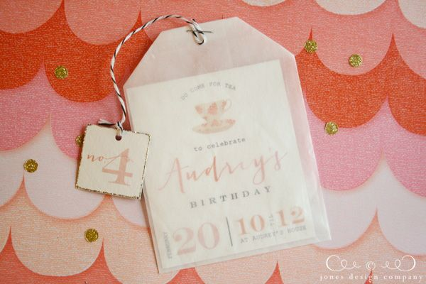 tea-party-birthday-invitation from JDC could be cute for bridal tea...