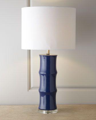 Blue ceramic lamp horchow s room option