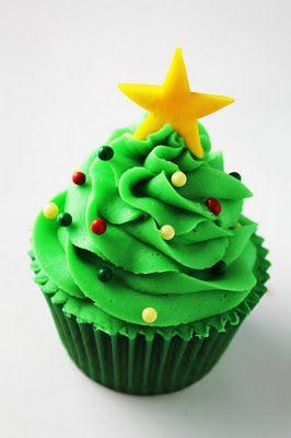 Objetivo: Cupcake Perfecto.: ¡¡Pon un árbol de Navidad en tu vida!! O lo que es...