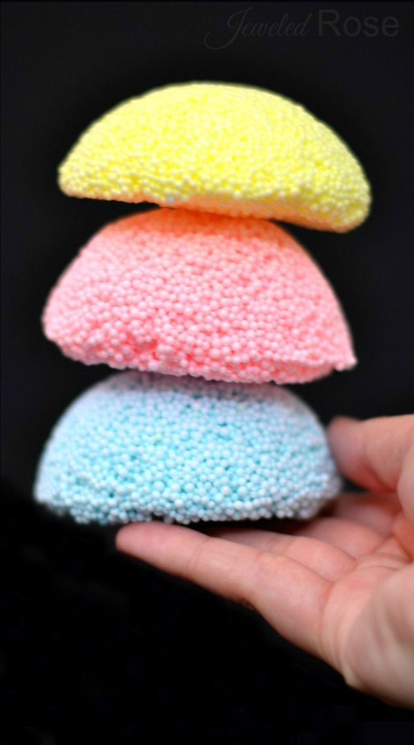 Homemade floam is easy to make and SO FUN! It can be molded and shaped but is also squishy and gooey. It has a really unique texture that is irresistible to touch. It is also much cheaper than the store bought stuff!
