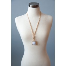 Meet in the Square Necklace - $18.00