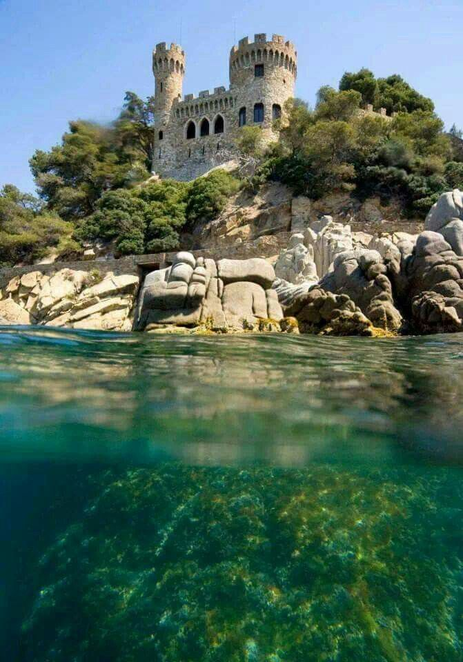 Castell d'en Plaja | Lloret de Mar, Spain | via Wonderful Castles In the World on Facebook