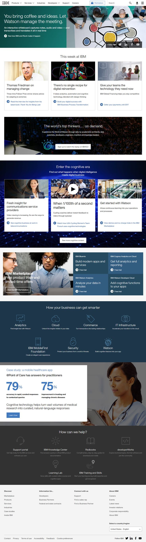 IBM website in 2016