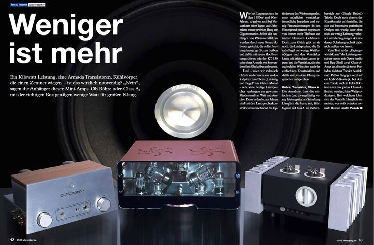 StereoPlay.de - comparison review (Egg-Shell Prestige 12WKT - our top vacuum tube amplifier)