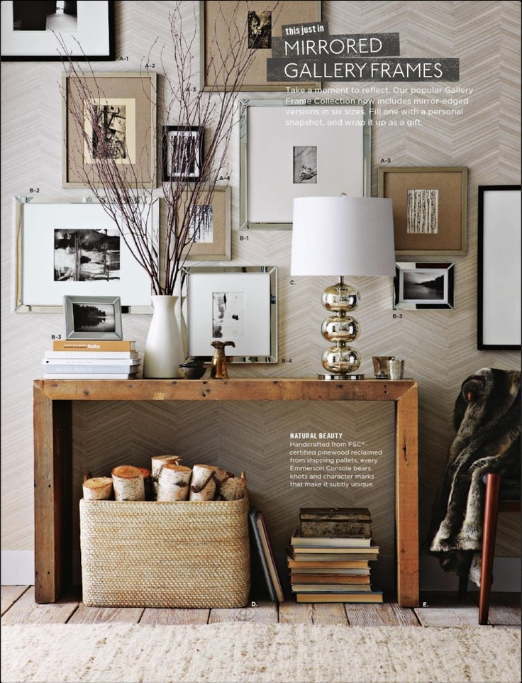 Mix of frames and mats on a textured wall