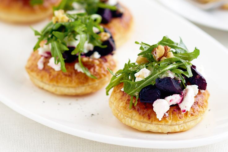 Serve up sophisticated bites at your next dinner party with these beetroot and goat's cheese tarts.