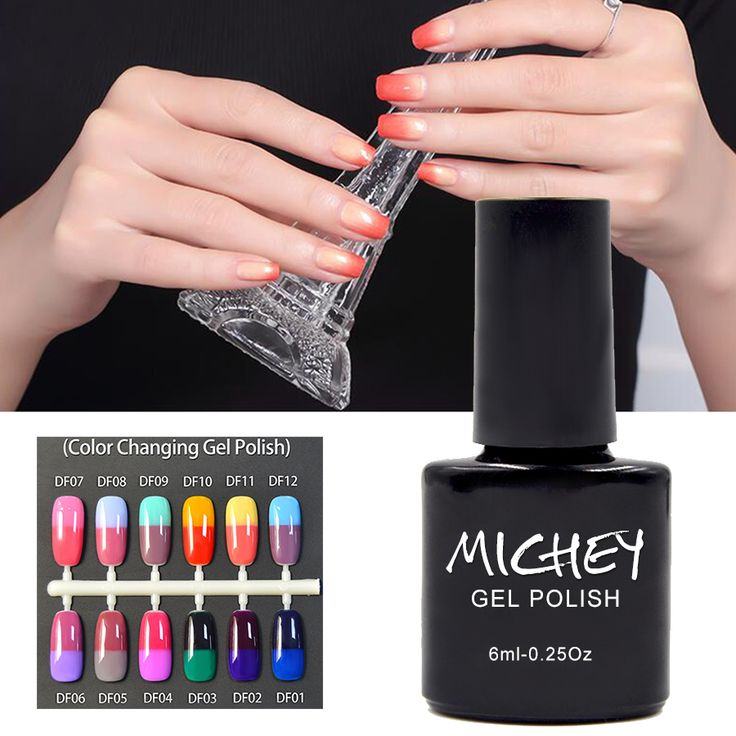 Fabulous  New Brand MICHEY Thermo Nail Polish Long Lasting Led uv Gel Nail Polish High Quality
