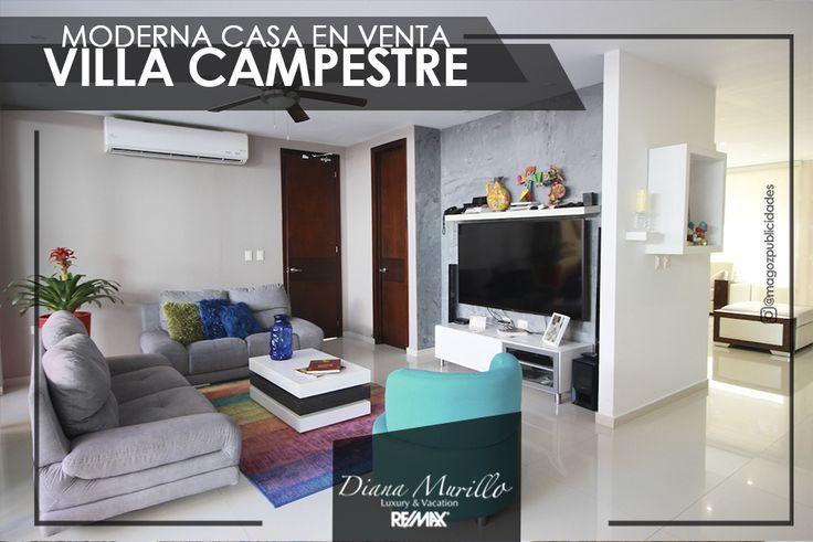 A 15 minutos de Barranquilla encuentras esta moderna y amplia casa en conjunto cerrado, ubicada en Villa Campestre.