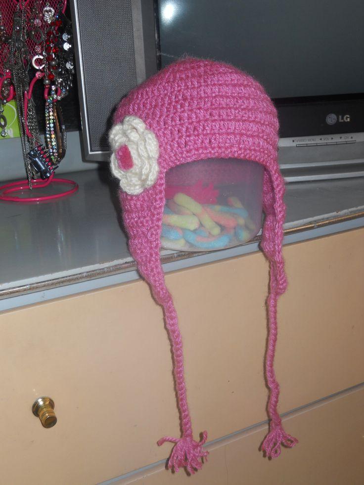 Contemporáneo Hola Gatito Orejera Patrón De Crochet Sombrero ...