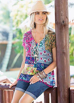 Together Lace Detail Denim Shorts #kaleidoscope #denim