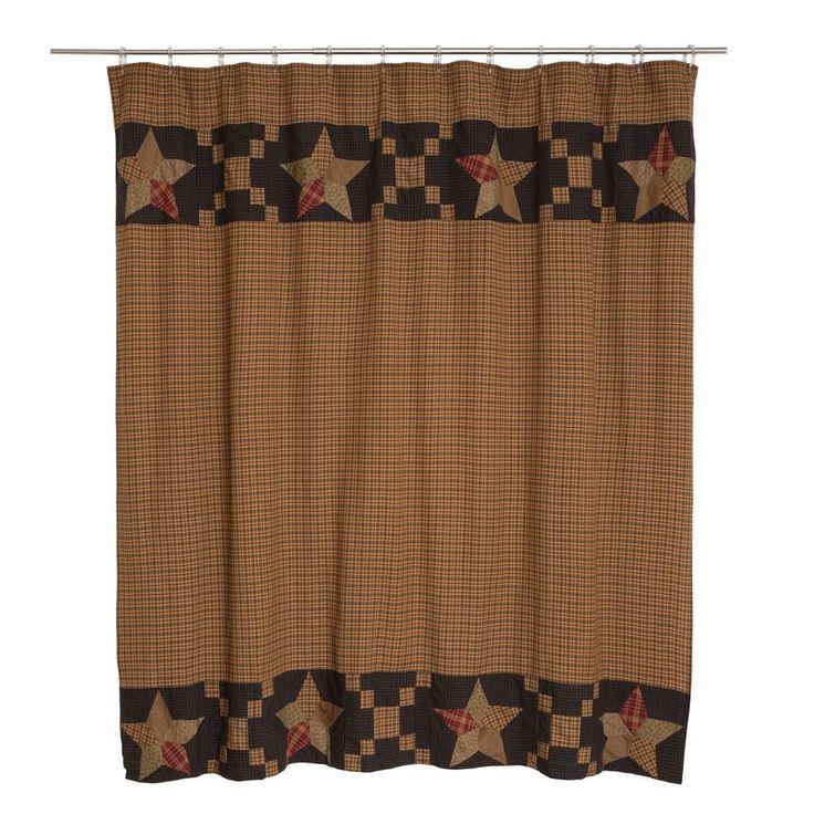 navy and tan shower curtain. New Country Primitive Arlington STAR QUILT BLOCK BORDER Navy Tan Shower  Curtain Best 25 shower curtain ideas on Pinterest Cream