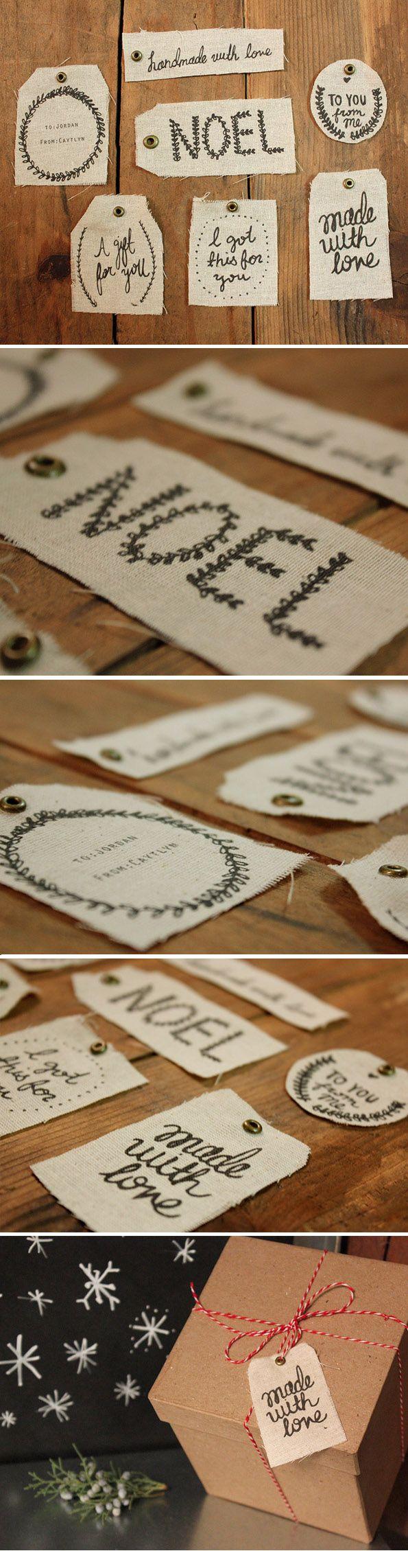 Print on Fabric | Holiday Gift Tags | Kollabora Alt Summit Challenge  #KollaboraAltSummit  @Kollabora