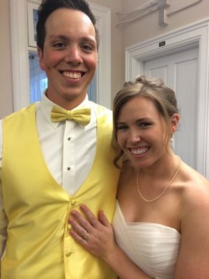 The happy Mr. and Mrs.!