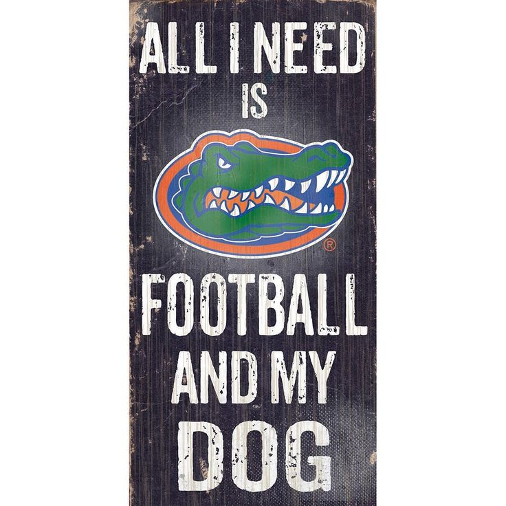 Florida Gators Football & My Dog Sign, Multicolor