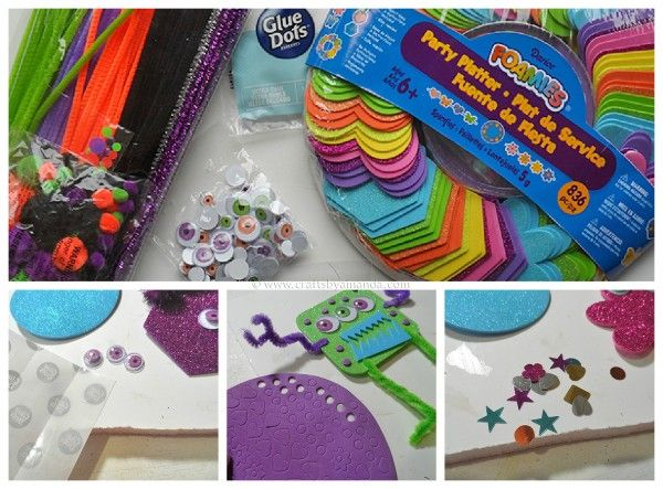 Kids Craft/Party Activity: Make Foam Monsters by CraftsbyAmanda.com #foamcrafts