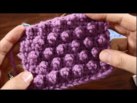 كروشيه غرزة الحبيبات المجسمة Granule Stitch مع مرمرة Youtube Crochet Top Pattern Crochet Stitches Crochet